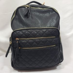 Miztique Vegan Leather Quielted Large Backpack